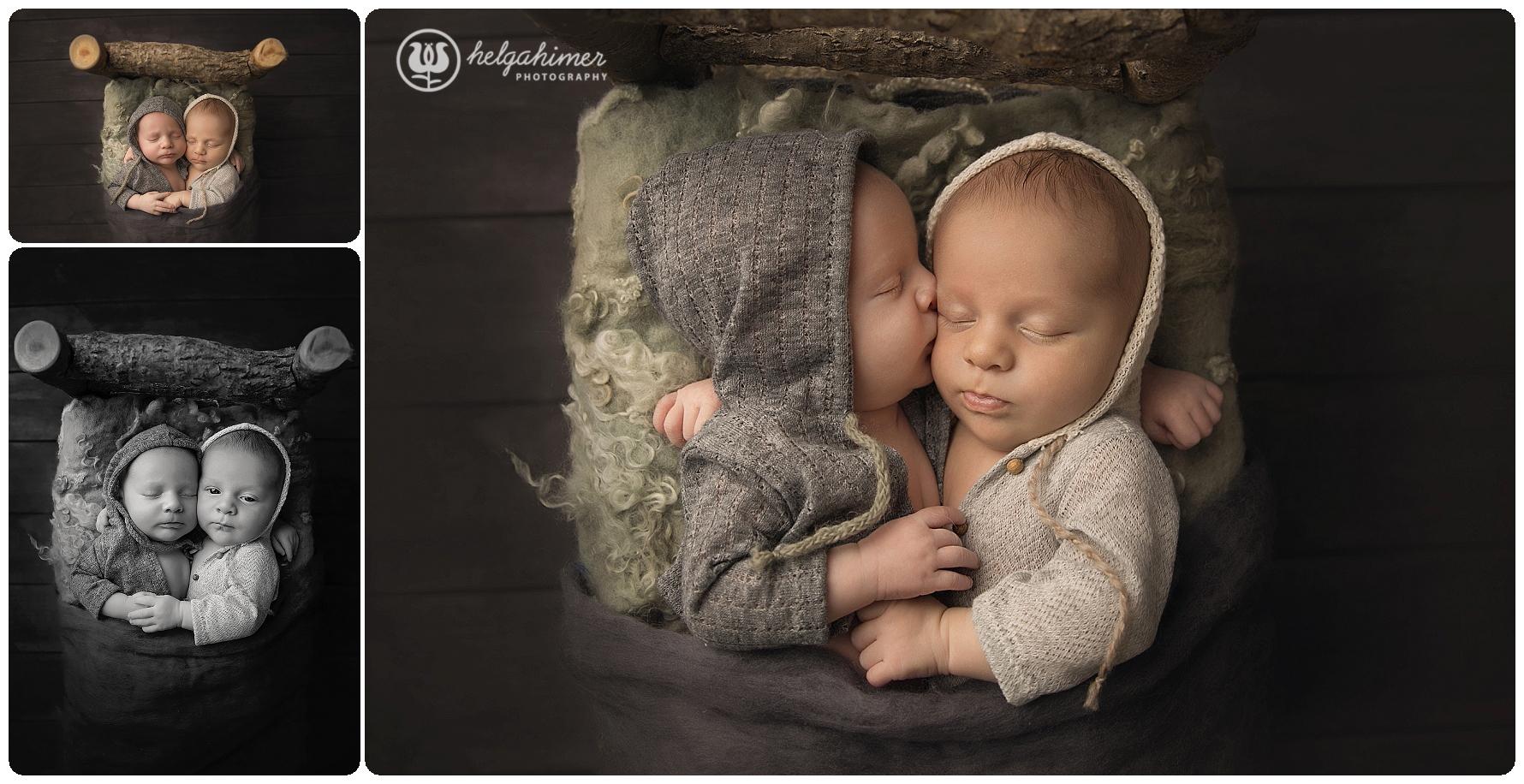 twins-newborn-photography-helgahimer-sudbury-nightynight-kissing-wooden-bed-miajoy