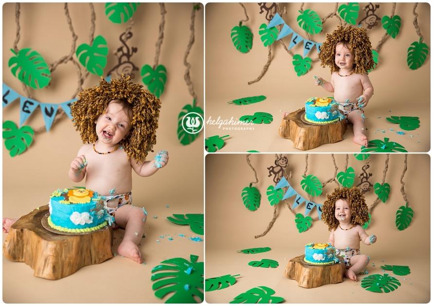 cake-smash-sudbury-infant-photographer-cakesmash-session-lion-leo-blue-oneyear-helgahimer-photography-baby-funny-lion-main